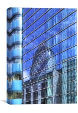 Londons Gherkin reflection, Canvas Print