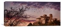 Fortress at sunset  , Canvas Print