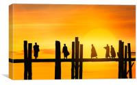 U Bein bridge , Canvas Print