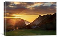 Sunset at the Valley of the Rock, Canvas Print