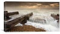 High Tide at Landgaurd Point, Felixstowe, Canvas Print