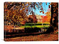 Pittville Pump Room In Autumn. , Canvas Print