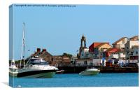 Swanage Seafront & Clock tower  , Canvas Print