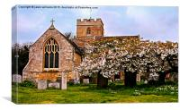 St Peters Church in Spring. , Canvas Print