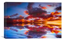 Abstract Sunset, Canvas Print