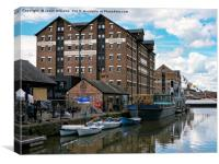 Gloucester Dock Reflections , Canvas Print
