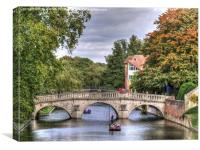 Punting in Cambridge, Canvas Print