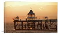 Glowing Clevedon Pier, Canvas Print