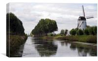 Damme Canal, Canvas Print