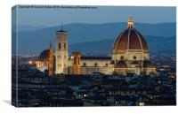 Florence Cathedral at Night (The Duomo), Canvas Print