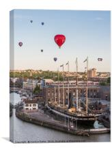 Balloons over the SS Great Britain, Canvas Print