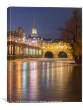 Bath by Night, Canvas Print