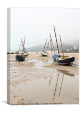 Misty Morning in St Ives, Canvas Print