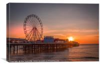 Central pier Blackpool, Canvas Print