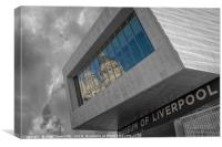 Port of Liverpool building reflection, Canvas Print