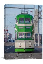 Blackpool tram, Canvas Print