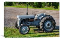 1949 agricultural tractor, Canvas Print
