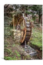 Rusty Waterwheel at Aber Falls, Canvas Print
