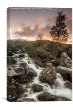 Sunset at Rhaeadr Idwal, Canvas Print