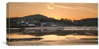 Conwy Harbour Sunset, Canvas Print