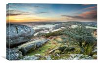 Frosty Morning at Helman Tor in Cornwall, Canvas Print