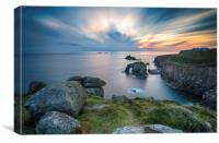 Lands End in Cornwall, Canvas Print