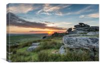 Beautiful Sunset on Bodmin Moor, Canvas Print