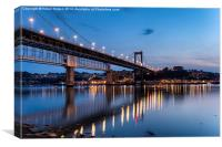 The River Tamar in Plymouth, Canvas Print