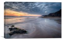 Sandymouth Beach, Canvas Print