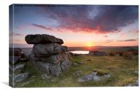 Tregarrick Tor on Bodmin Moor, Canvas Print