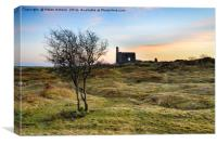 Sunset over Bodmin Moor in Cornwall, Canvas Print