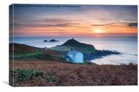 Sunset over Cape Cornwall, Canvas Print