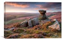 The Salt Cellar on Derwent Edge in the Peak Distri, Canvas Print