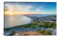 Sunset on the Isle of Portland in Dorset, Canvas Print