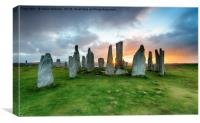 The Callanish Stones on the Isle of Lewis, Canvas Print