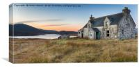 An Abandoned House on the Isle of Lewis, Canvas Print