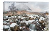 Snow at Buachaille Etive Mor, Canvas Print