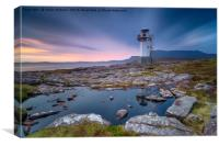 A long exposure of the lighthouse at Rhue, Canvas Print