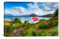 A picturesque cottage on the shores of Loch Shield, Canvas Print