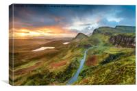 Stunning sunrise over the Quiraing, Canvas Print