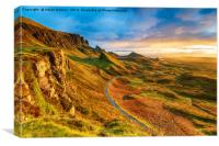 Beautiful sunrise over the Quiraing on the Isle of, Canvas Print