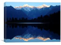 Mount Cook Reflected, Canvas Print