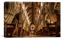 From the floor of the Cathedral, Canvas Print