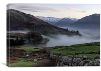 Nightfall in the Lake District, Canvas Print
