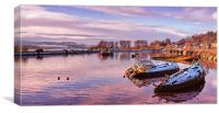 bowling harbour panorama 02, Canvas Print