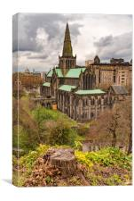 Glasgow Cathedral From The Necropolis, Canvas Print