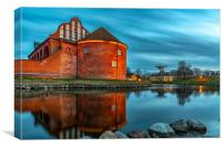 Landskrona Citadel with Reflection, Canvas Print