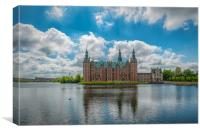 Frederiksborg Castle Lakeside View, Canvas Print