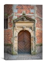 Frederiksborg Castle Ornate Door, Canvas Print