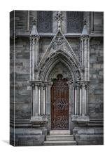 Trondheim Nidaros Cathedral Small Side Door, Canvas Print